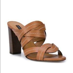 Veronica Beard Macey Sandals in Brown 8.5 9